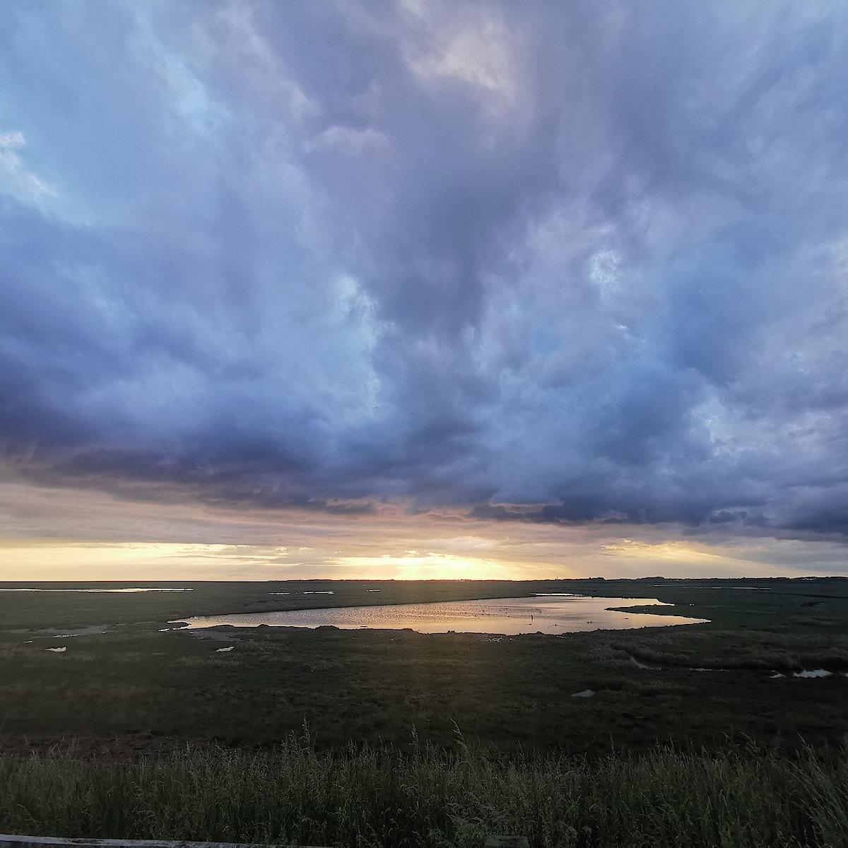Karens pool sunset