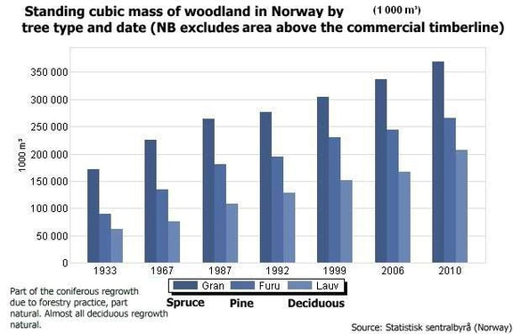 Standing cubic mass of woodland